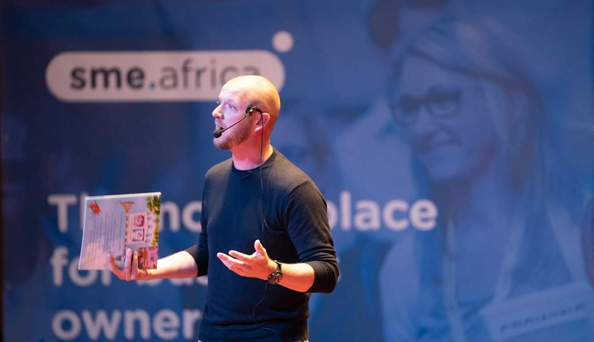 Mike presenting SME Africa